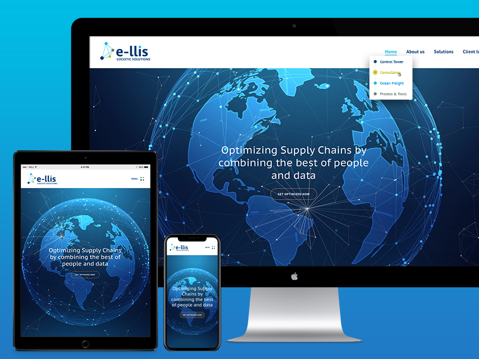 E-llis Logistic Solutions Homepage - Rene Verkaart