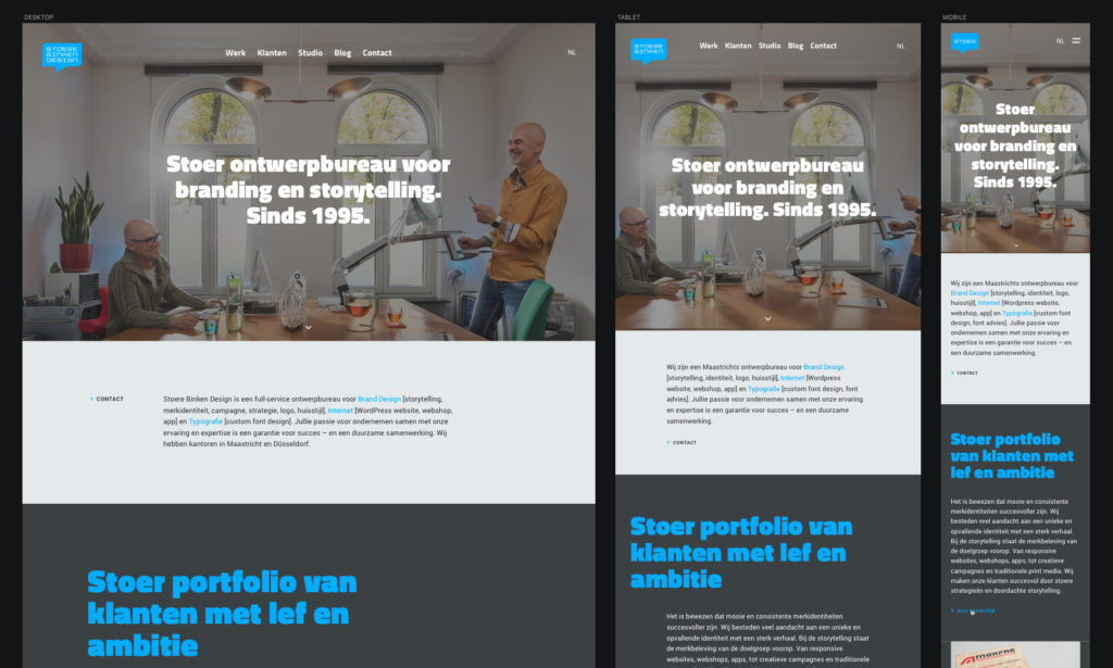Responsive webdesign - Rene Verkaart