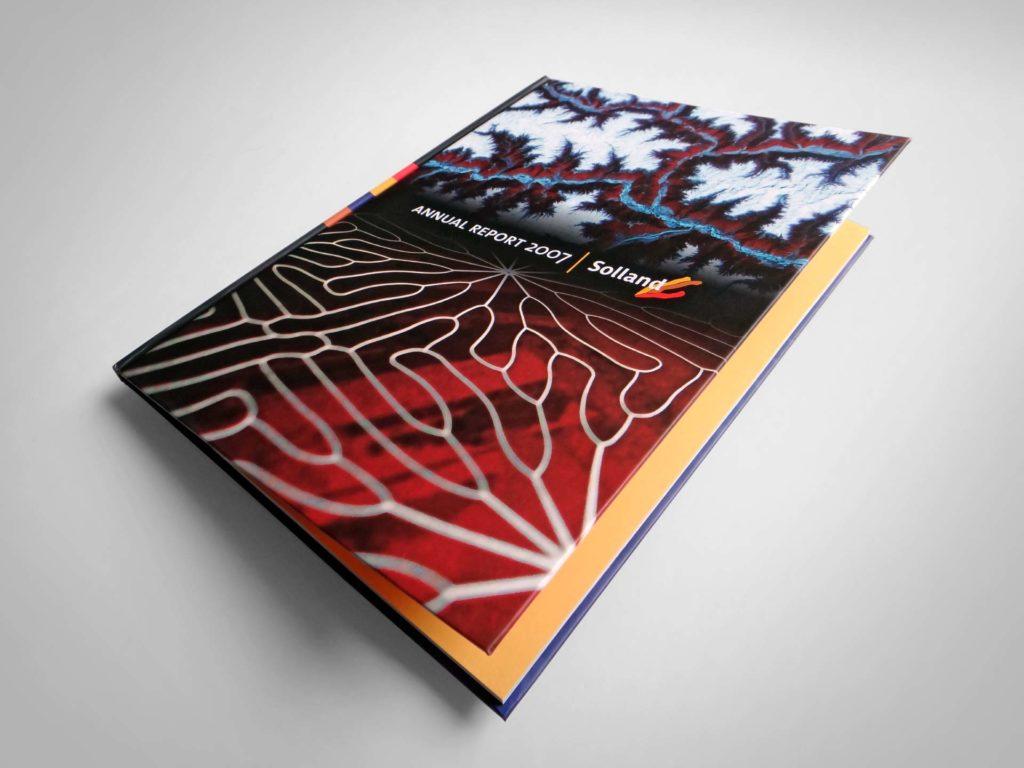Solland Solar grafisch ontwerp jaarverslag 2007