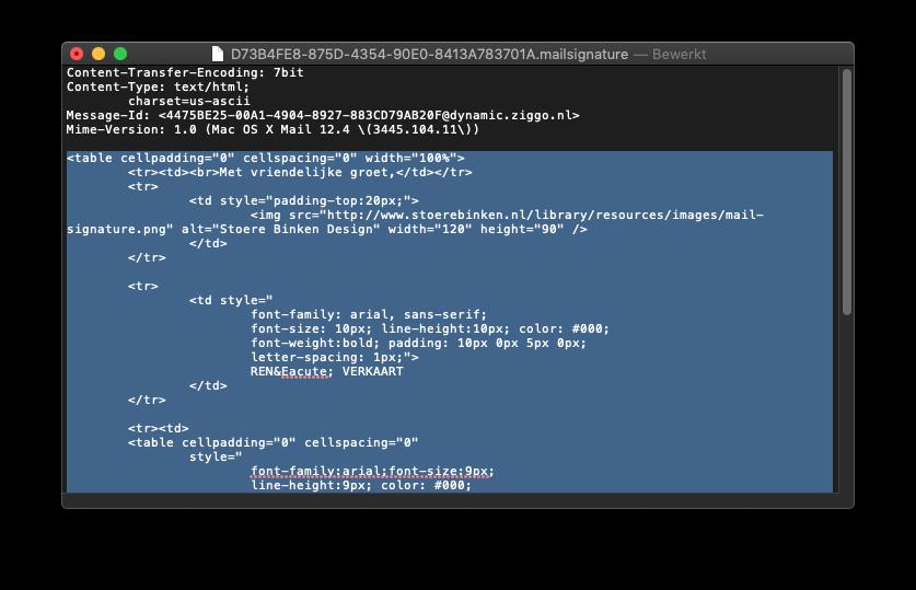 Stap 7 – Plak de HTML code van Stoere Binken Design
