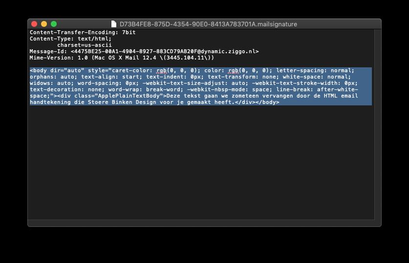 Stap 7 – Vervang de HTML inhoud