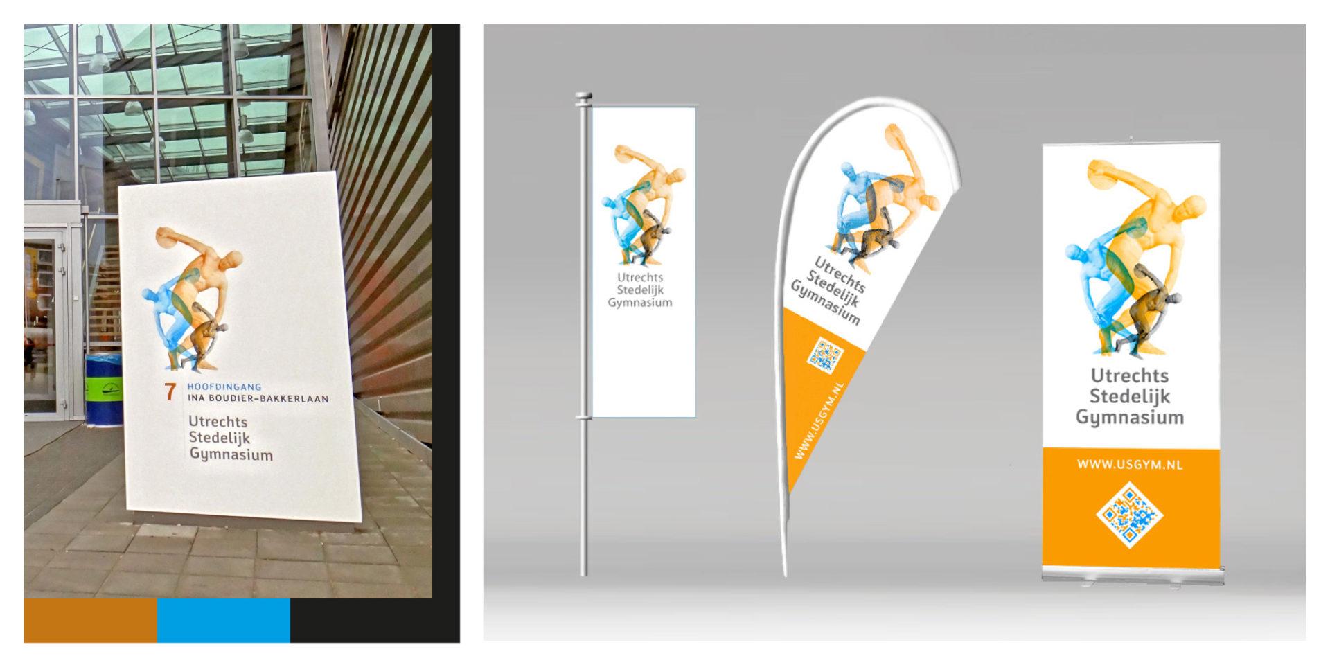 Utrechts Stedelijk Gymnasium vlaggen - Jeroen Borrenbergs)