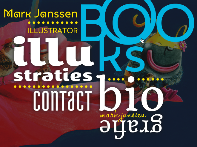 Mark Janssen website typografie navigatie