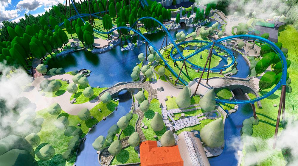 Toverland achtbaan rendering - Rene Verkaart