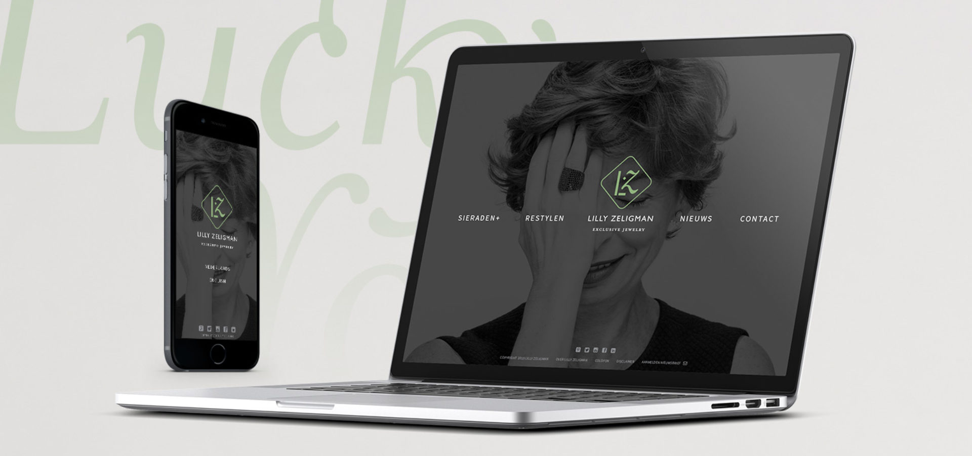Responsive website Jewellery laptop - Rene Verkaart)