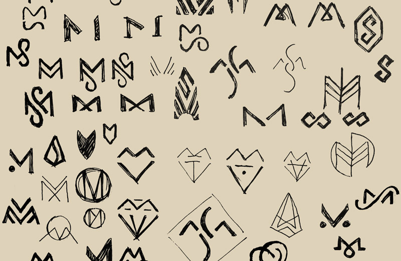 Marjan Sterk logo schetsen - Rene Verkaart