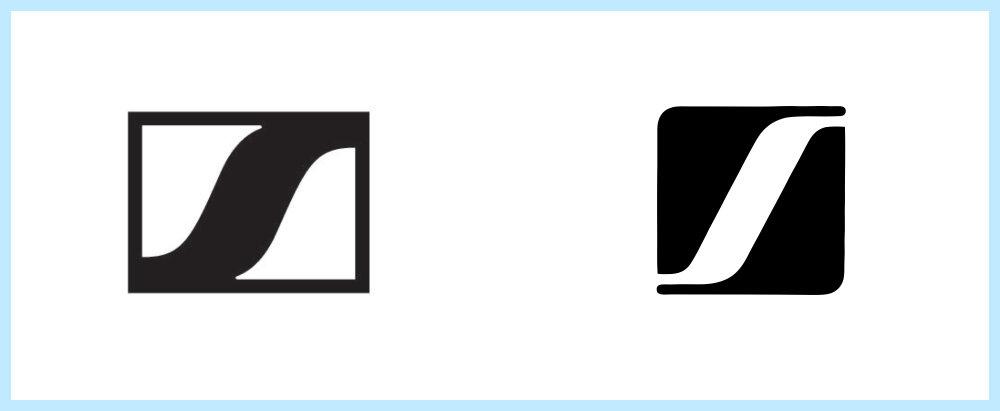Sennheisser logo rip off - Rene Verkaart