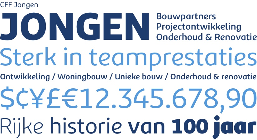 Jongen Bouwpartners Typografie - Rene Verkaart