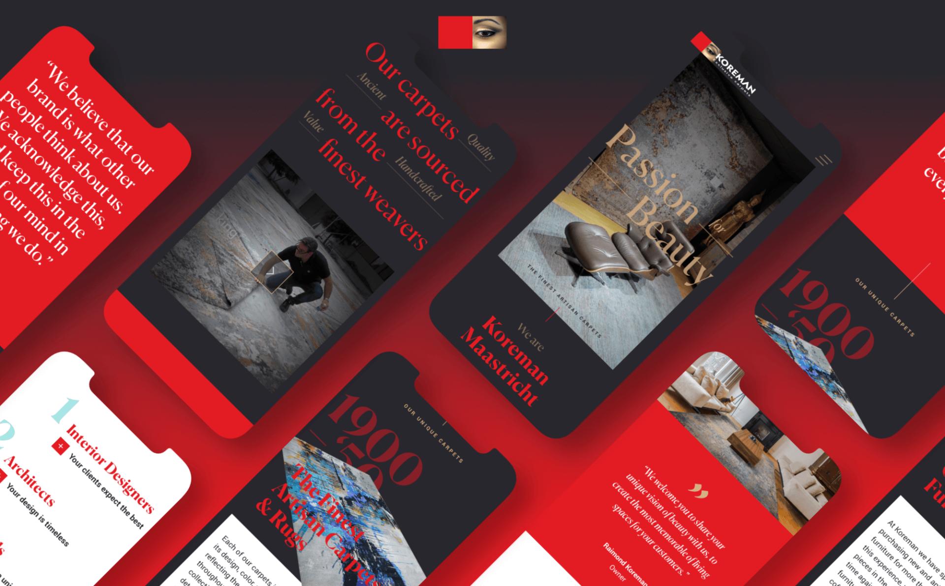 Koreman Exclusive Carpets website - Rene Verkaart)