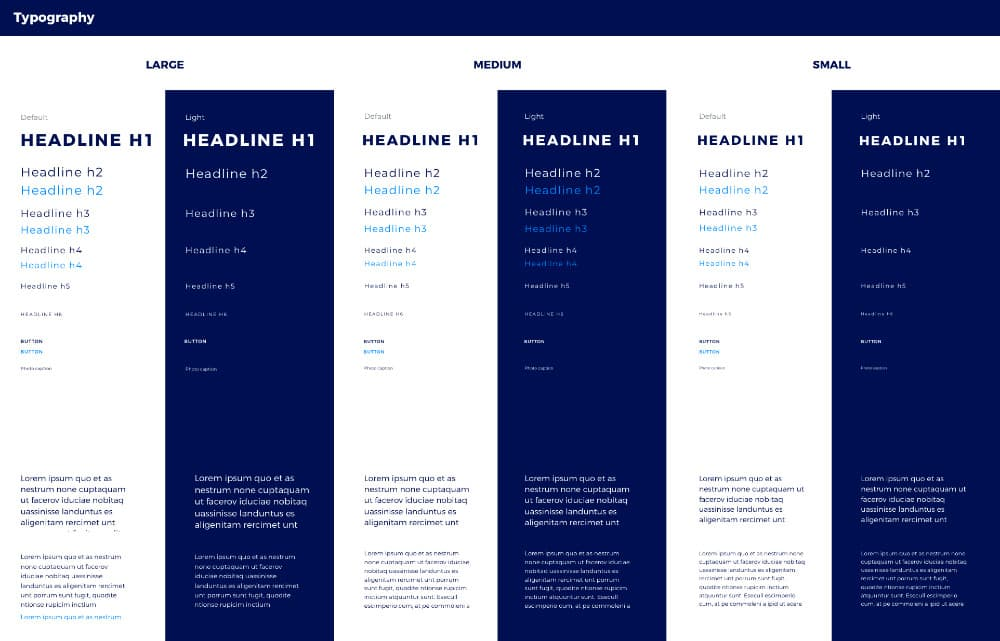 TBinnovators style guide Typography